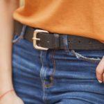 Cinturón negro para mujer